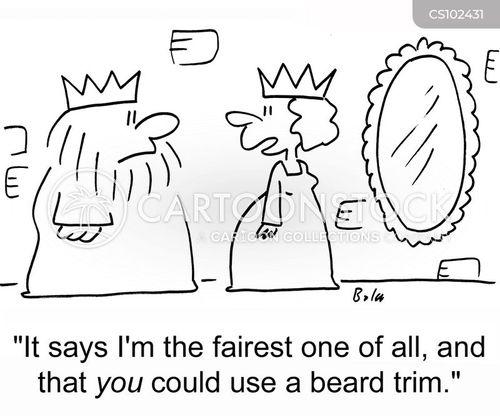 beard trim cartoon
