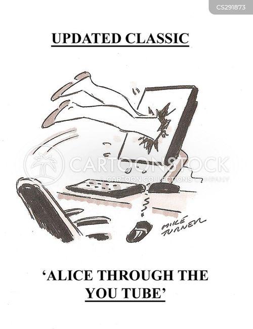 alice through the looking glass cartoon