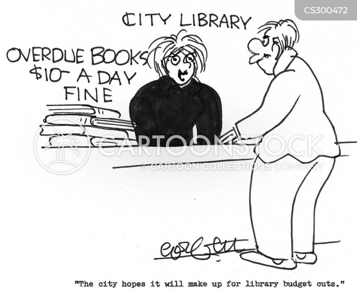 overdue books cartoon