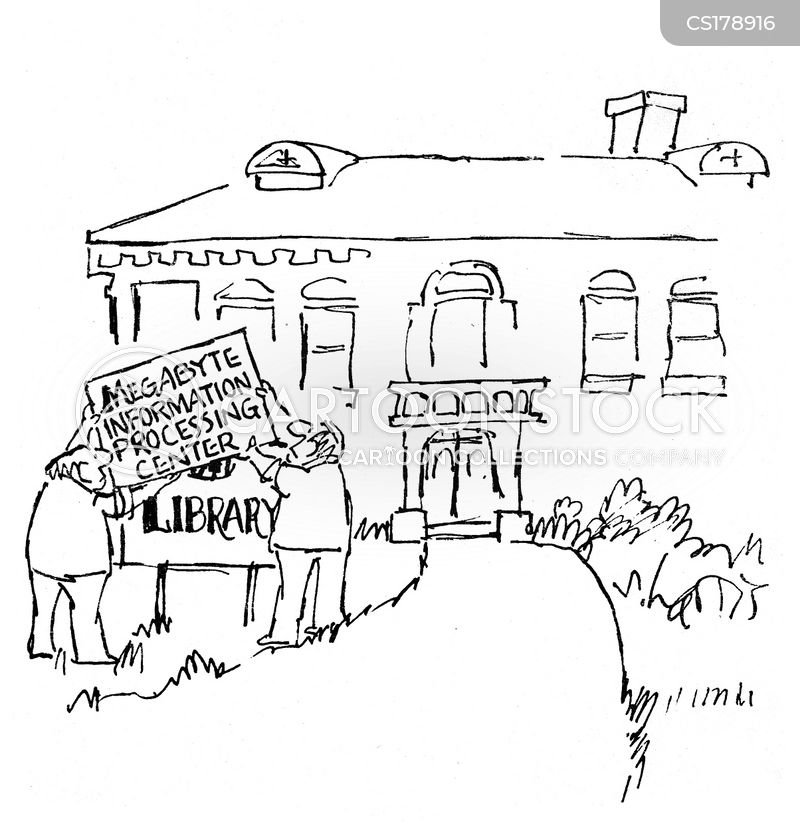 information center cartoon