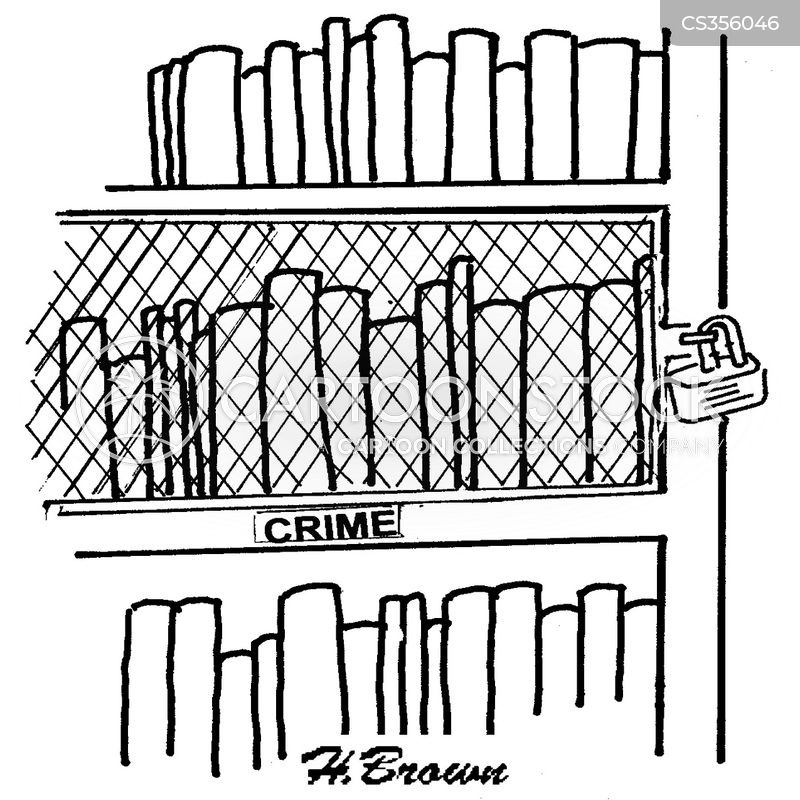 crime section cartoon