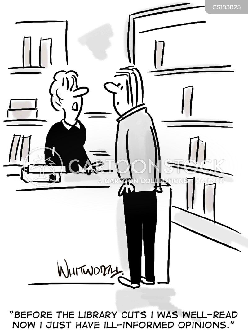 public library cartoon