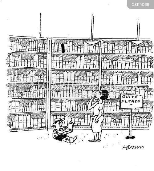 crime books cartoon