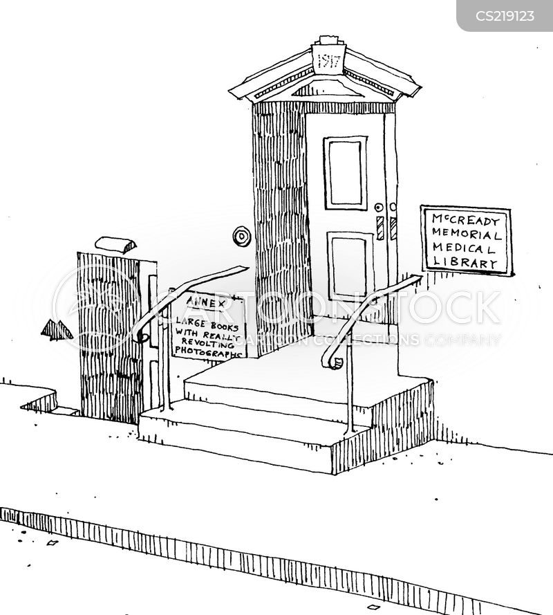 medical library cartoon