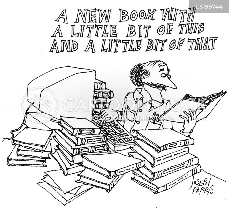 book reviews cartoon