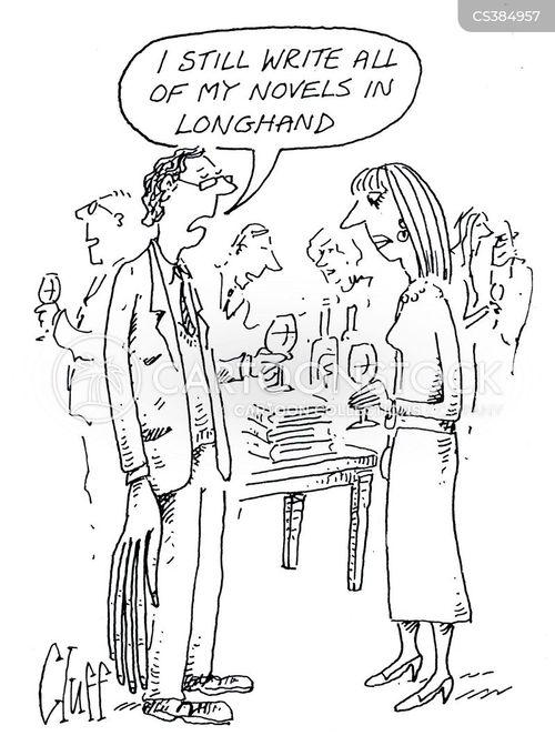 longhand cartoon