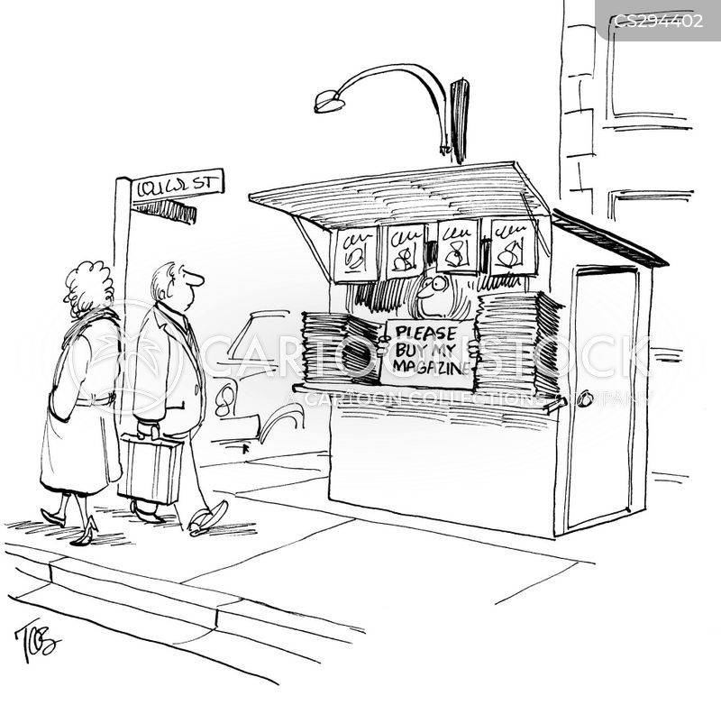 magazine sellers cartoon
