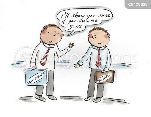 plagiarizing cartoon