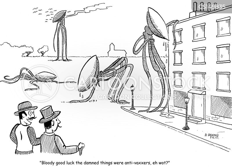 war of the worlds cartoon