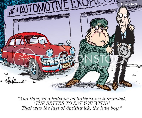 car garage cartoon