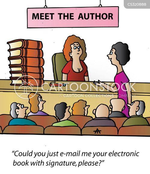 electronic book cartoon