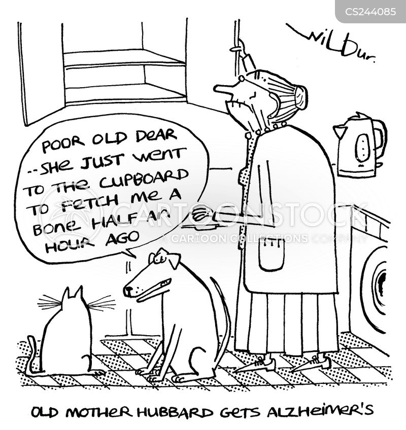 old mother hubbard gets alzheimers