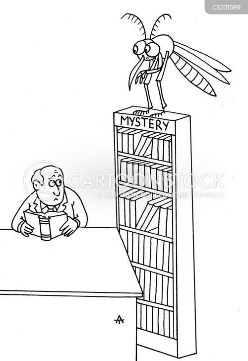 mystery book cartoon