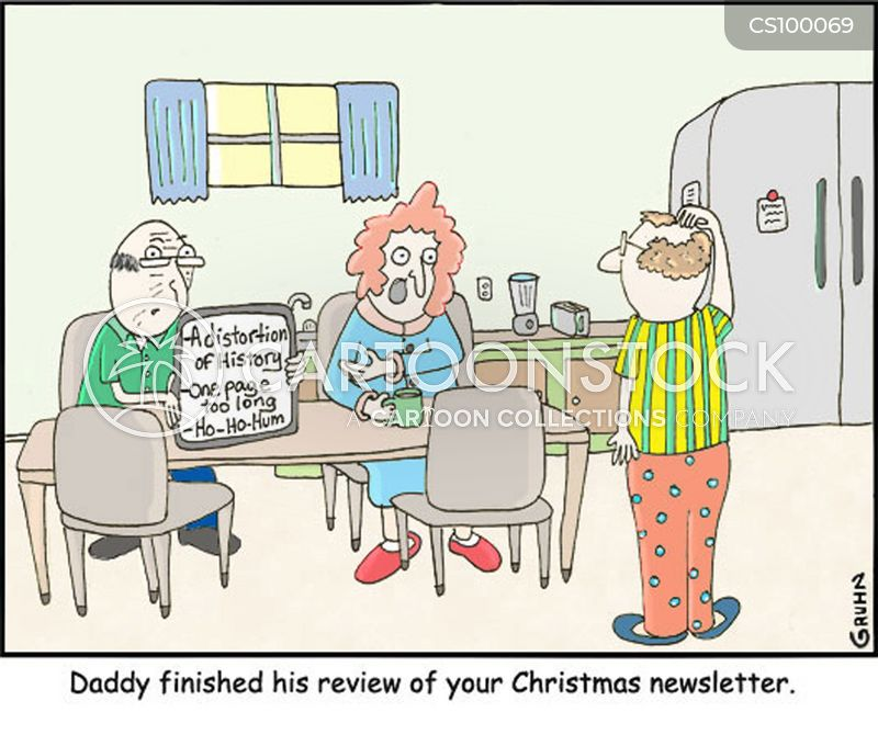 christmas newsletters cartoon