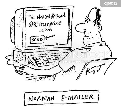 norman mailer cartoon
