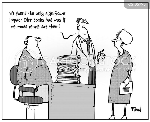 diet book cartoon