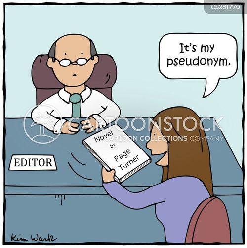 literary double cartoon