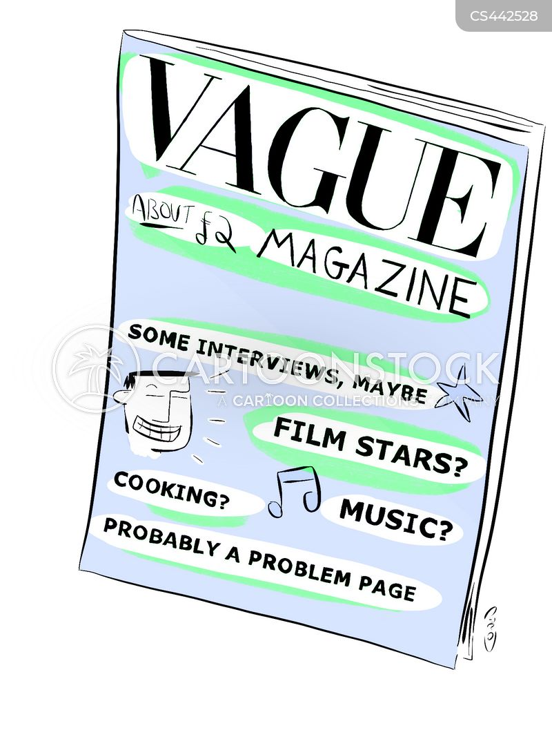 magazine article cartoon