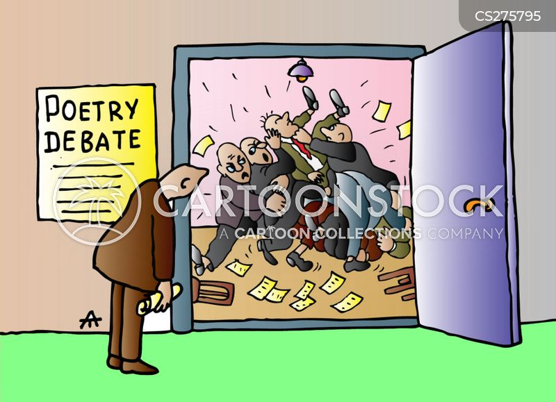 poetry debates cartoon
