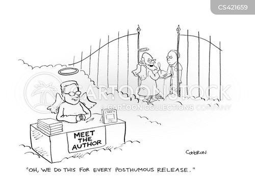 book release cartoon