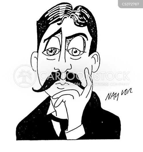 french writer cartoon
