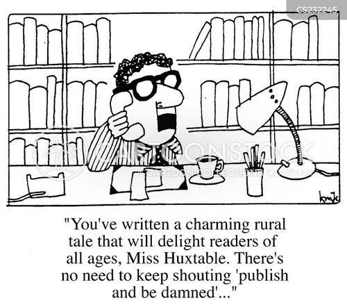 book publisher cartoon