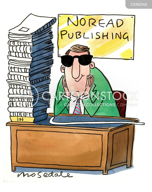 publishing industry cartoon
