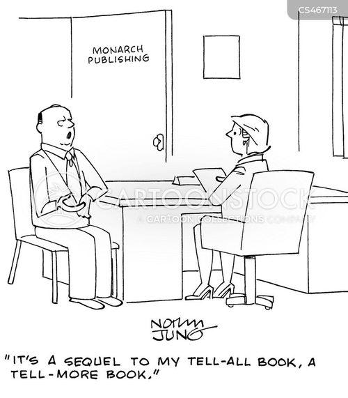 tell-all book cartoon