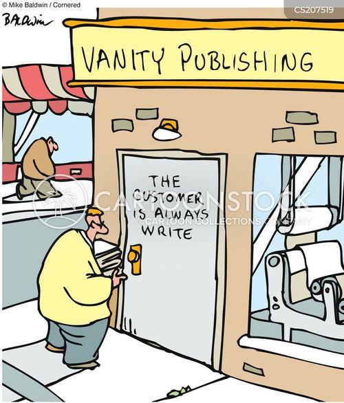 publishes cartoon