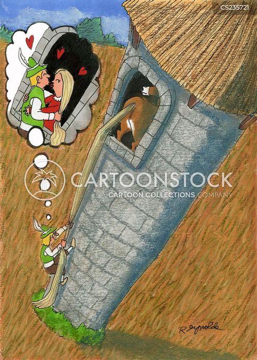 Prinzessin auf der erbse comic  Cartoons und Karikaturen mit Prinzessin