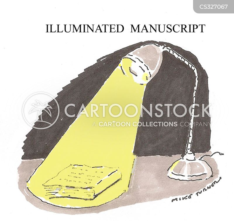 illuminated manuscripts cartoon