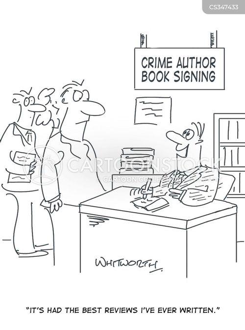 crime writers cartoon