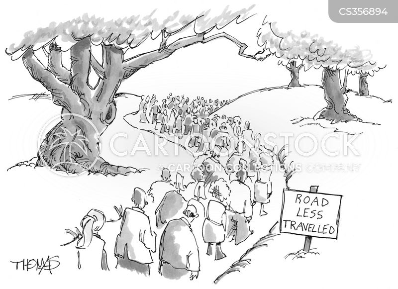 road less traveled cartoon