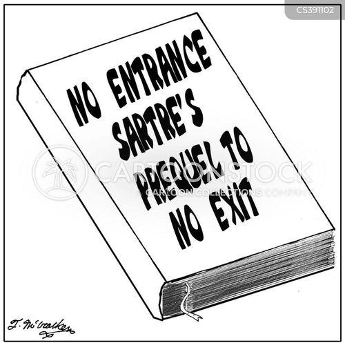 sartre cartoon