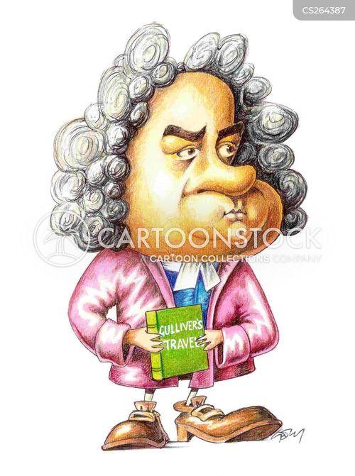 jonathan swift cartoon