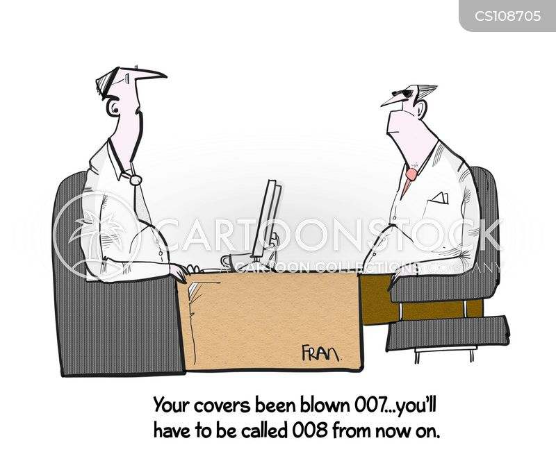 intelligence agent cartoon