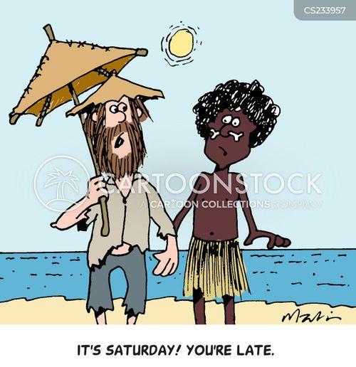 robinson crusoe cartoon