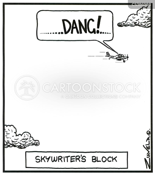 drawing a blank cartoon
