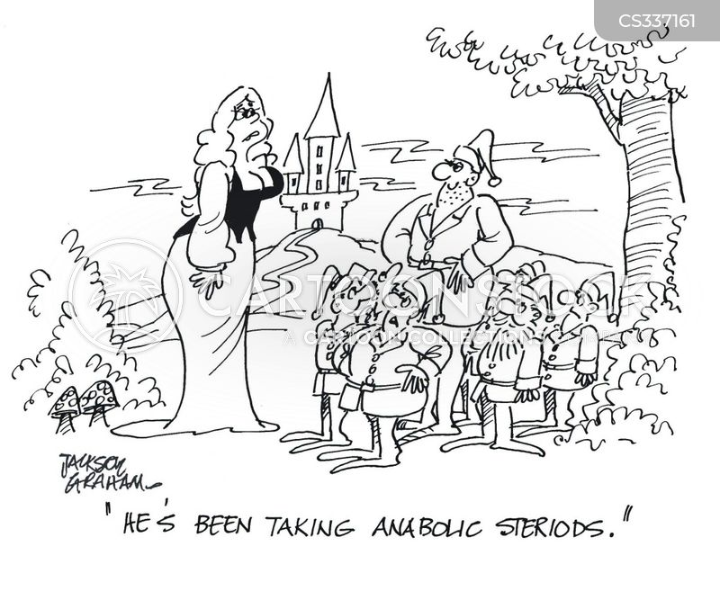 anabolic steroids cartoon