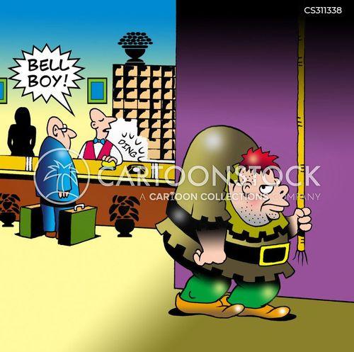 bell boy cartoon
