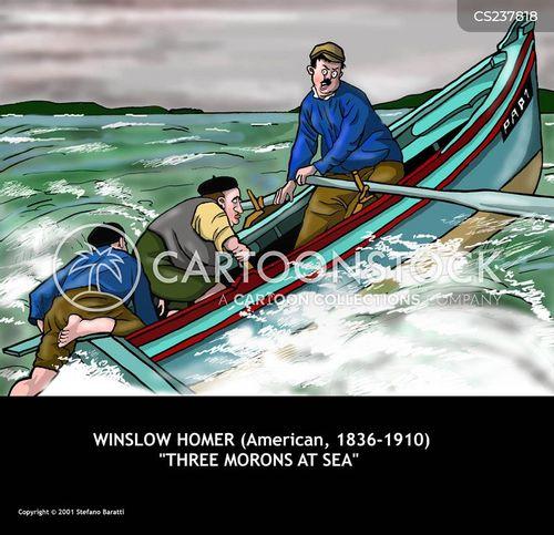 at sea cartoon