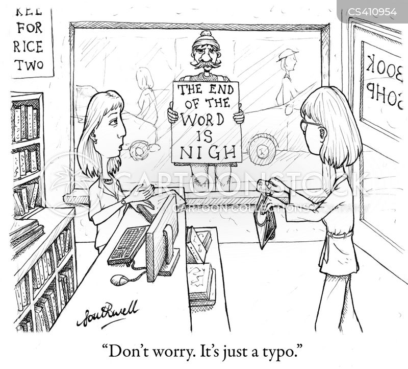 literary type cartoon