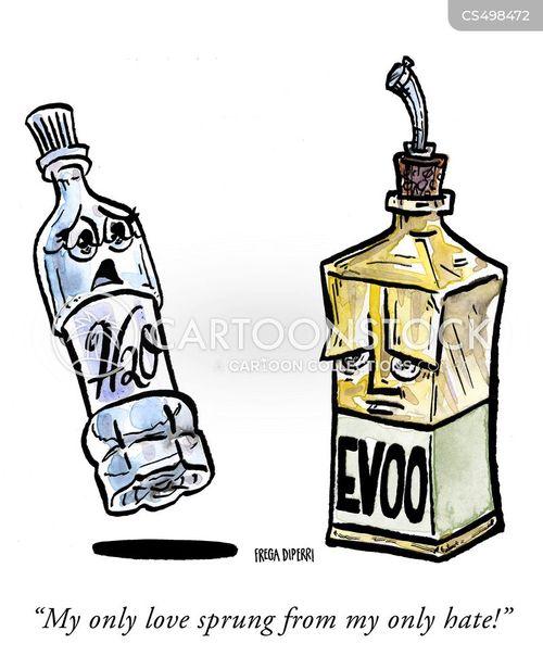 extra virgin olive oil cartoon