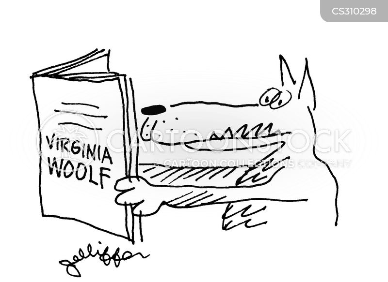 virginia woolf cartoon