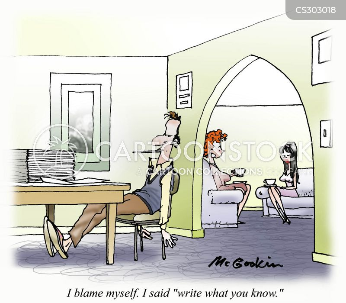 creative writing cartoon