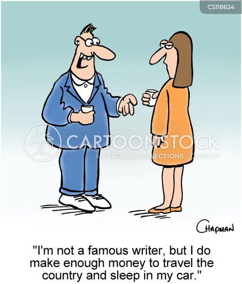 travel writer cartoon