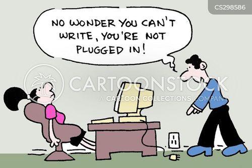 plugged in cartoon
