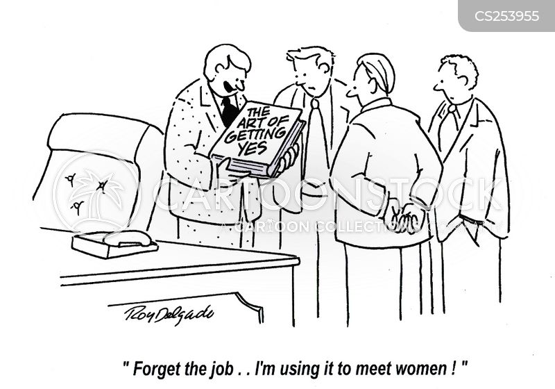 meeting women cartoon