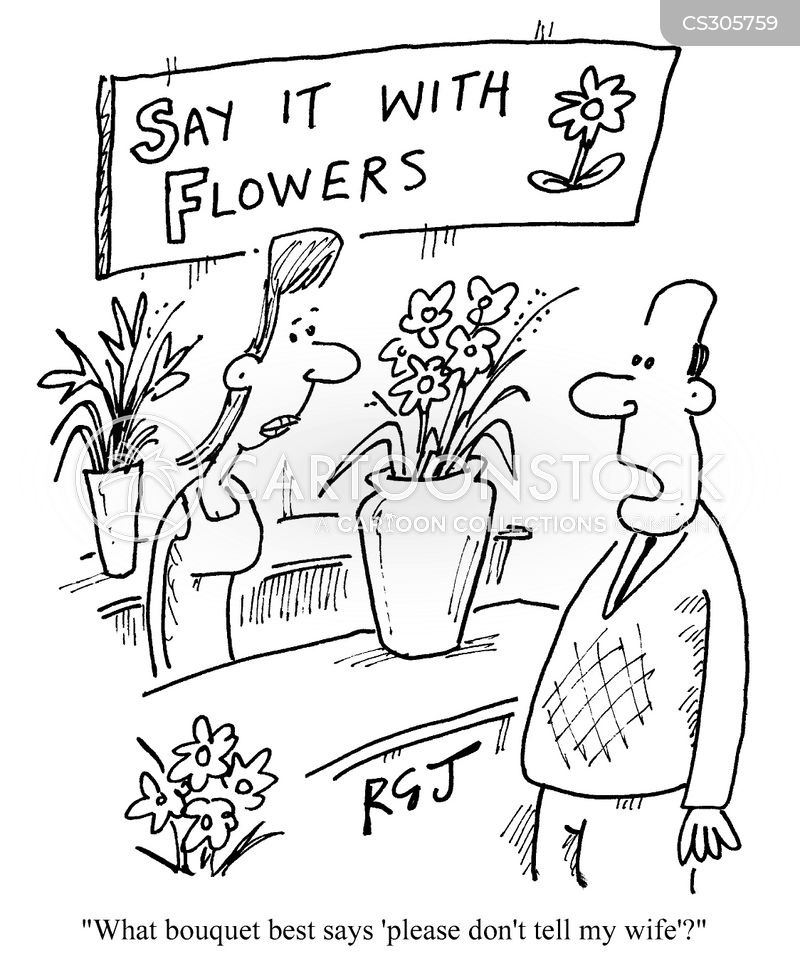 saying it with flowers cartoon
