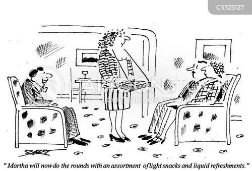 cabin attendant cartoon